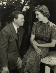 STUART ERWIN AND JUNE COLLYER PHOTOGRAPH SIGNED TO HAROLD LLOYD