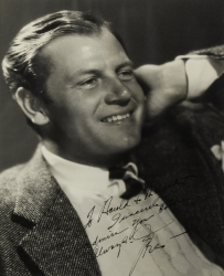 JOEL McCREA PHOTOGRAPH SIGNED TO HAROLD LLOYD