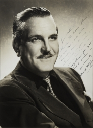 FRANK MORGAN PHOTOGRAPH SIGNED TO HAROLD LLOYD