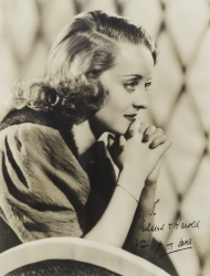 BETTE DAVIS PHOTOGRAPH SIGNED TO HAROLD LLOYD