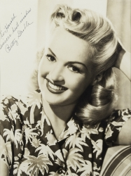 BETTY GRABLE PHOTOGRAPH SIGNED TO HAROLD LLOYD