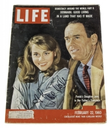JANE FONDA SIGNED LIFE MAGAZINE