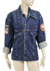 JANE FONDA WORKOUT CUSTOM DENIM JACKET