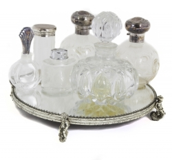 ASSORTED GROUP OF PERFUME DECANTERS