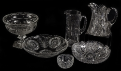 ASSORTED GROUP OF AMERICAN BRILLIANT PERIOD GLASS
