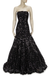 JANE FONDA SEQUIN BALL GOWN