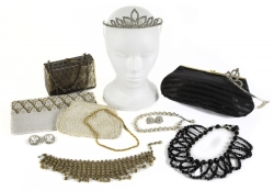 JOANNE CARSON VINTAGE COSTUME JEWELRY AND PURSES