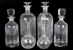 TRUMAN CAPOTE GROUP OF SIX BACCARAT DECANTERS