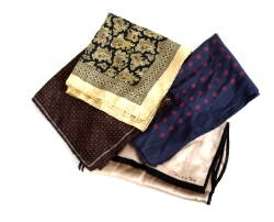 TRUMAN CAPOTE SILK SCARVES AND POCKET SQUARES