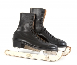 TRUMAN CAPOTE ICE SKATES AND BOOK