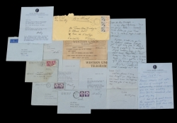 MONTGOMERY CLIFT LETTERS AND TELEGRAM