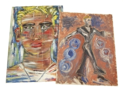 PAINTINGS OF TAB HUNTER ATTRIBUTED TO JACK LARSON