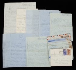 TAB HUNTER HANDWRITTEN LETTERS TO JACK LARSON