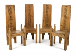 CHARLTON HESTON SET OF CHAIRS