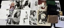 CELEBRITY SIGNED AUTOGRAPH BOOKS, PHOTOGRAPHS, AND NOTE CARDS