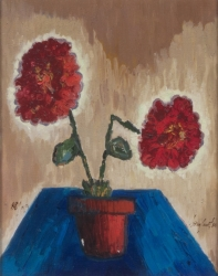 "TONY CURTIS ""RED FLOWERS"" GICLÉE"