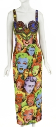 GIANNI VERSACE COUTURE MARILYN MONROE PRINT GOWN
