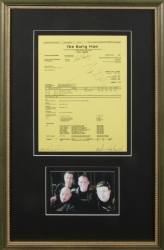 WACHOWSKI BROTHERS SIGNED CALL SHEET GIVEN TO KEANU REEVES