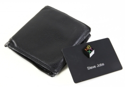STEVE JOBS WALLET AND ID BADGE
