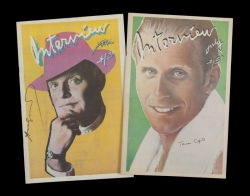 ANDY WARHOL TRUMAN CAPOTE SIGNED INTERVIEW MAGAZINES