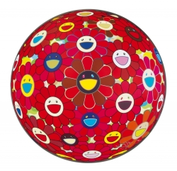 TAKASHI MURAKAMI - RED FLOWER BALL (3D)