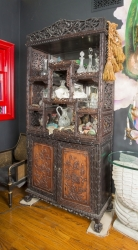 ZAPPA CARVED ASIAN CURIO CABINET