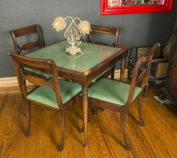 ZAPPA VINTAGE CARD TABLE AND CHAIRS