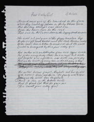 "JOHNNY CASH HANDWRITTEN ""POOR VALLEY GIRL"" LYRICS"