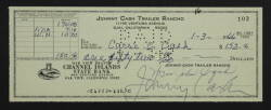 JOHNY CASH AND JUNE CARTER CASH SIGNED CHECK
