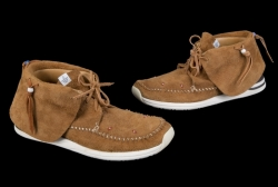 ERIC CLAPTON SIGNED AND WORN VISVIM MOCCASIN BOOTS