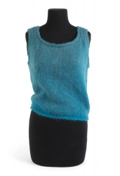 MARILYN MONROE TURQUOISE KNITTED TOP