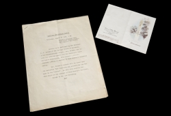MARILYN MONROE LEE STRASBERG EULOGY, FUNERAL GUEST LIST, AND REMBERENCE CARD