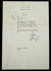 MARILYN MONROE NOTE FROM ROBERT MITCHUM