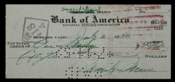 MARILYN MONROE HANDWRITTEN AND SIGNED CHECK IN GREEN INK