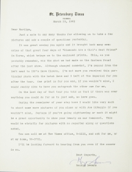 MARILYN MONROE PHOTOGRAPHS AND LETTER FROM REPORTER