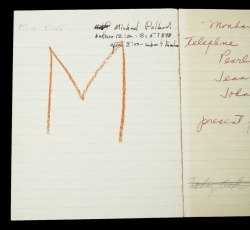 MARILYN MONROE NOTEBOOK WITH NOTES FROM ACTING CLASS