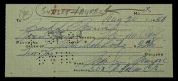 MARILYN MONROE HANDWRITTEN SIGNED CHECK TO BOOKSTORE