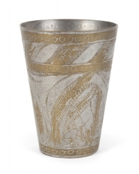 MARILYN MONROE BRONZE AND METAL MIDDLE EASTERN CUP