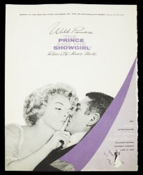 MARILYN MONROE PROGRAM FROM THE PRINCE AND THE SHOWGIRL PREMIERE