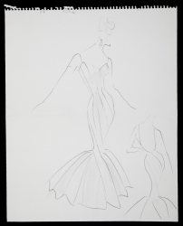 DESIGN SKETCH FOR MARILYN MONROE GOWN