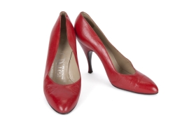 MARILYN MONROE RED LEATHER DAL CO. HEELS
