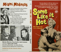 MARILYN MONROE SOME LIKE IT HOT COVER PROOF