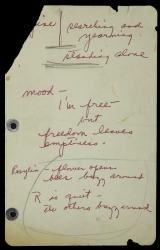 MARILYN MONROE NOTES ON HER MISFITS CHARACTER