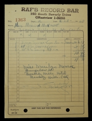 MARILYN MONROE RECORD RECEIPT