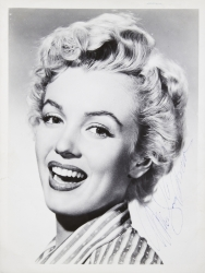 MARILYN MONROE SIGNED PUBLICITY PHOTOGRAPH