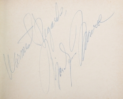 MARILYN MONROE, FRANK SINATRA AND OTHERS SIGNED ALBUM