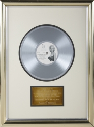 "MARILYN MONROE ""I'M GONNA FILE MY CLAIM"" RECORD AWARD"