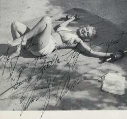 MARILYN MONROE INSCRIBED MAGAZINE PAGE