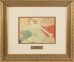MARILYN MONROE LITHOGRAPH AFTER TOULOUSE-LAUTREC