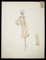 BOB MACKIE ORIGINAL MARILYN MONROE COSTUME SKETCH AND BOOK